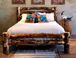 Timber Bedroom Furniture by Best 20 Log Bed Ideas On Pinterest Log Bed Frame Timber Bed