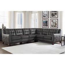 Gray Leather Sofa Gray Leather Sofas Sectionals Costco