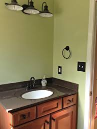 Green Powder Room Diy Farmhouse Style Powder Room Makeover Jersey In The South