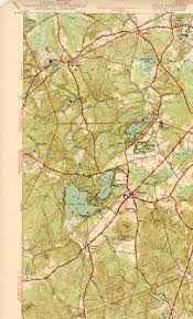 Map Of New England States by Wrentham Ma Quadrangle
