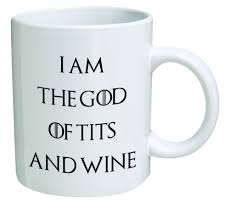 amazon com funny mug i am the god of and wine 11 oz
