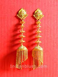 bengali earrings indian blush traditional bengali gold wedding jewellery part ii