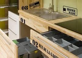 cuisine style indus stickers style industriel pour meubles cuisine textes et motifs