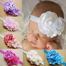 stretch headbands flower infant baby headband lastest design baby stretch