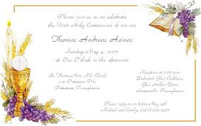 templates for confirmation invitations amazing sle first communion invitation cards white background