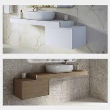 mensola lavabo da appoggio mensola da 60 90 120 per arredo bagno con cassettiera