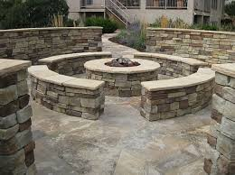 Firepit Stones Pit Seat Walls Pit Accent Landscapes Colorado