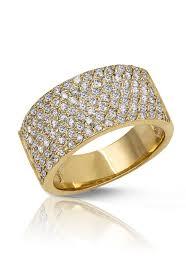 gold pave rings images Moderna d 39 oro yellow gold diamond pave ring 1 60 tcw jpg