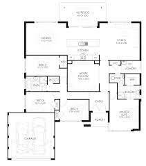 floor plan with 4 bedrooms floor plan friday 4 bedroom home with rear views