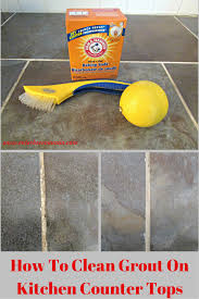 How To Clean Kitchen Floor by Thrifty Thursday How To Clean Grout On Kitchen Counter Tops