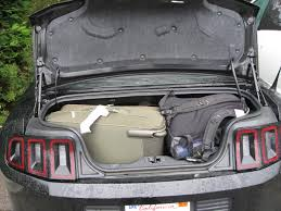 mustang convertible trunk mustang convertible trunk size