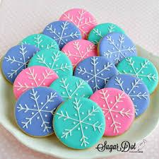 snowflake cookies sugar dot cookies snowflake cookies