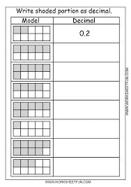 decimal model tenths 2 worksheets free printa koogra