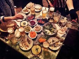 table full of food full table picture of savida sea food bar acre tripadvisor