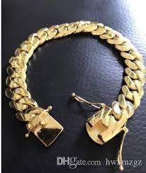 cuff link bracelet images Mens cuban miami link bracelet 14k gold filled over solid 10mm jpg