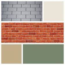 what color goes with orange red brick google search outside