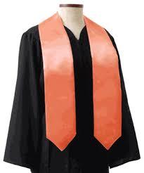 honor stoles orange graduation honor stoles