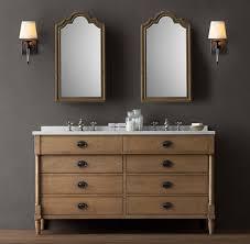 Restoration Hardware Bathroom Vanity by Directoire Double Vanity Sink Double Restoration Hardware