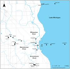 Map Of Michigan Lakes Urban Microbial Ecology Of A Freshwater Estuary Of Lake Michigan