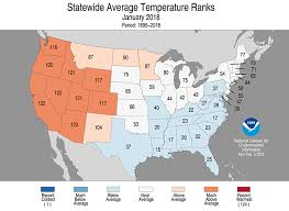 temperature map usa january national climate report january 2018 state of the climate