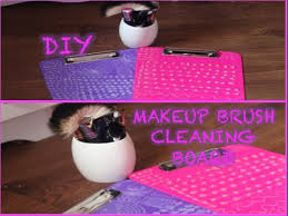 diy make up brush cleaning board how to create a make up brush cleaner easy and