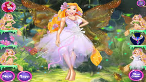 disney princess magical fairy land ariel and rapunzel games dress