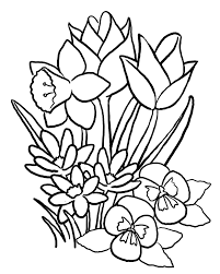 flowers coloring page coloring pages for kids flowers kids flower