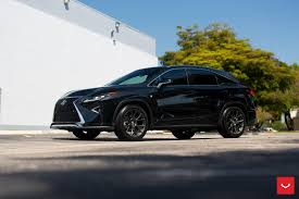 lexus rx black custom wheels help this lexus rx transition to the dark side