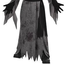 teen boys ghastly ghoul ghost halloween mask robe scythe fancy