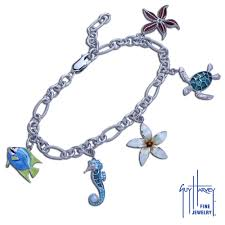 silver jewelry charm bracelet images Guy harvey charm bracelet in hard fired enamel and sterling silver jpg