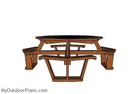 Picnic Table Plans Free Octagon by Octagonal Picnic Table Plans Free Myoutdoorplans Free