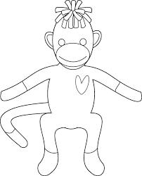printable monkey coloring pages printable sock monkey coloring pages me christmas socks coloring