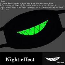 amazon com mouth mask zwzcyz masks cotton cool green glow teeth
