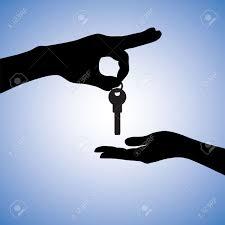 Haus Kaufen S Konzept Illustration Des Kaufens Und Verkaufens Haus Auf Dem