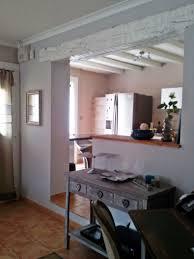 entree cuisine vue sur la cuisine et l entrée photo 1 1 console bois grisé