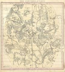Map Of Constellations File 1856 Burritt Huntington Map Of The Constellations Or Stars