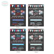 gender reveal invitation template fourth of july fireworks gender reveal party invitation