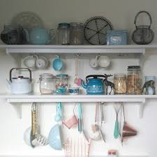 my ikea stenstorp kitchen shelves with pretty copper duck egg