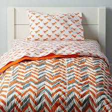 Dimensions Of Toddler Bed Comforter Little Prints Toddler Bedding Orange Dino The Land Of Nod