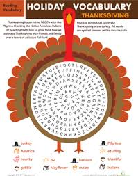 thanksgiving 5 wordy worksheets education