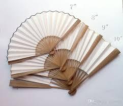 buy paper fans in bulk 7 12 blank plain color hand fan calligraphy diy fine art hand