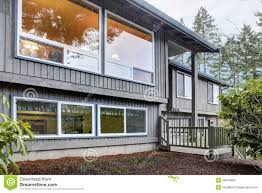 Split Level Front Porch Designs by Split Level Brown Grey House Front Exterior Stock Photos Image