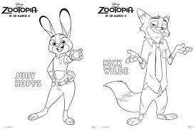 zootopia character coloring pages fancy shanty