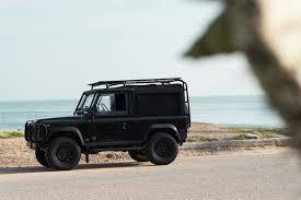 vintage land rover defender car blacked out vintage land rover defender airows