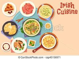 cuisine dinner cuisine traditional dinner with dessert icon vectors