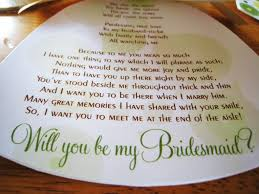 ways to ask bridesmaid to be in wedding ideas to ask bridesmaids theme thursday how to ask for