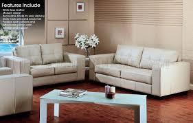 Tufted Faux Leather Sofa White Tufted Faux Leather Modern Sofa Loveseat Set