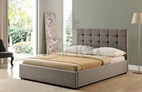 ottoman beds with mattress birlea isabella 4ft6 double grey upholstered fabric ottoman bed