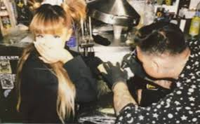 pic ariana grande u0027s tattoos with mac miller new finger tattoo