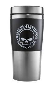 harley davidson willie g skull insulated travel mug 16 oz coffee